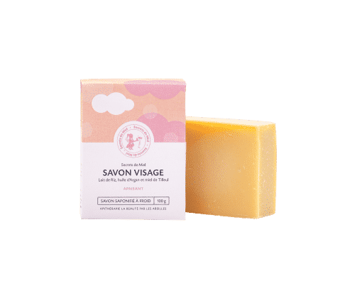 savon solide - 100% naturel - savon visage - apaisant - miel - miel de Tilleul - Secrets de Miel