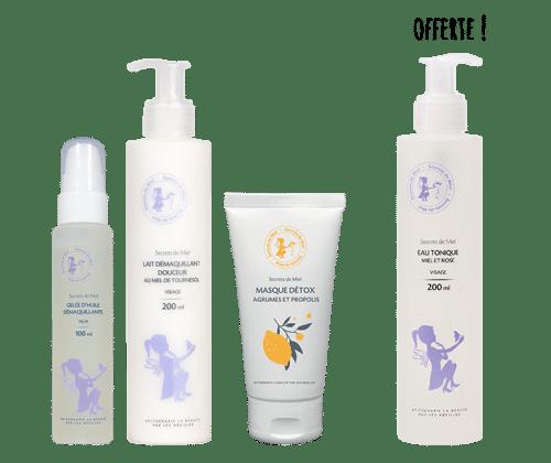 démaquillant - yeux - visage - masque visage - nourrissant - repulpant - Secrets de Miel - produits naturels - cosmétiques naturels - soins du visage
