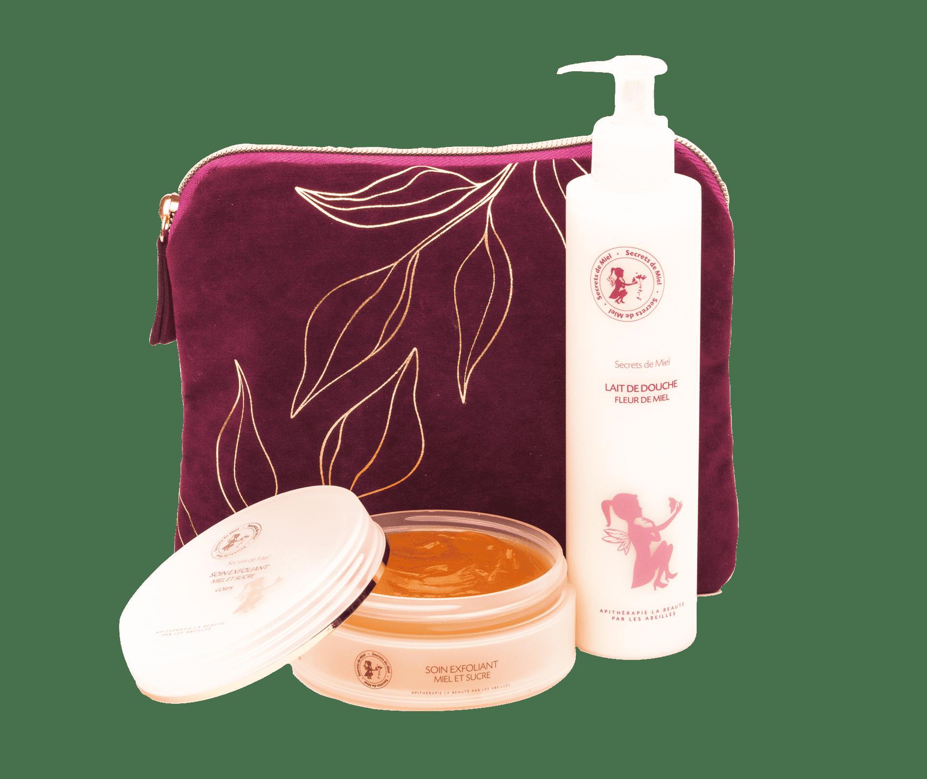 bain - produits bain - coffret - Noël - Secrets de Miel