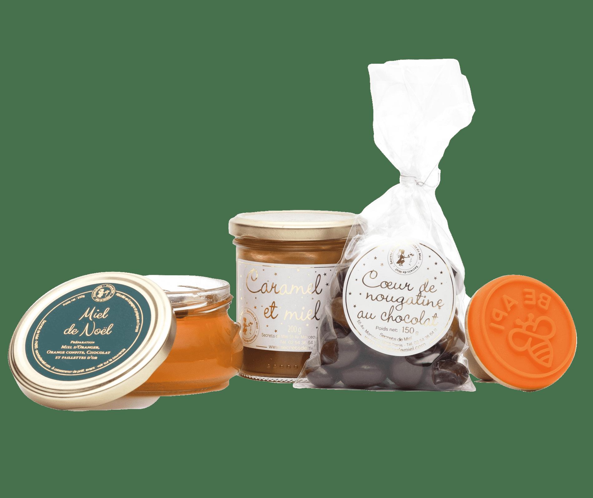 coffret gourmand - Noël - produits artisanaux - Secrets de Miel