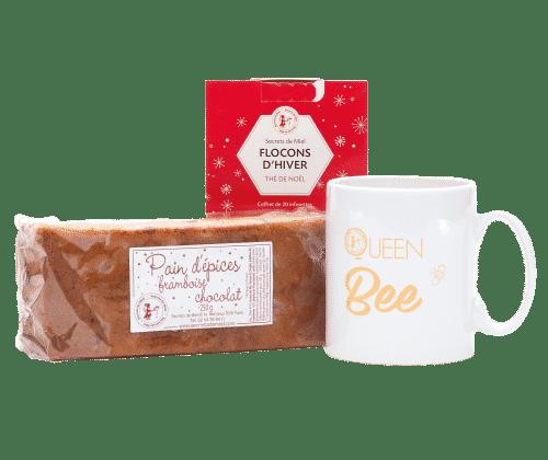 coffret - Noël - Secrets de Miel - thé noir - pains d'épices - artisanal - produits gourmands