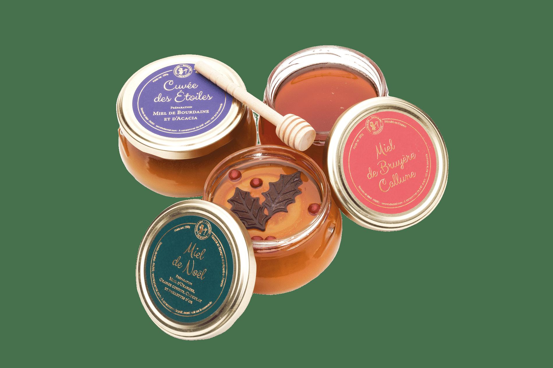 éditions limitées miels - Miels d'exception - Secrets de Miel - miels rares - cadeau de Noël