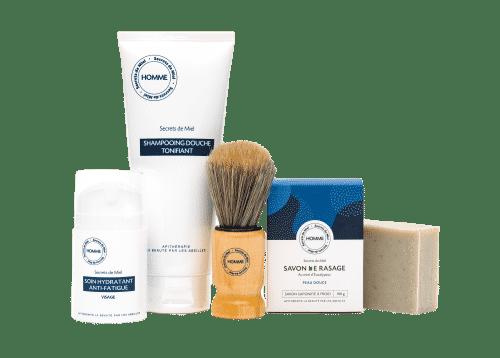 produits homme - soins - cosmétiques - coffret Noël - idée cadeau - formules naturelles - Secrets de Miel