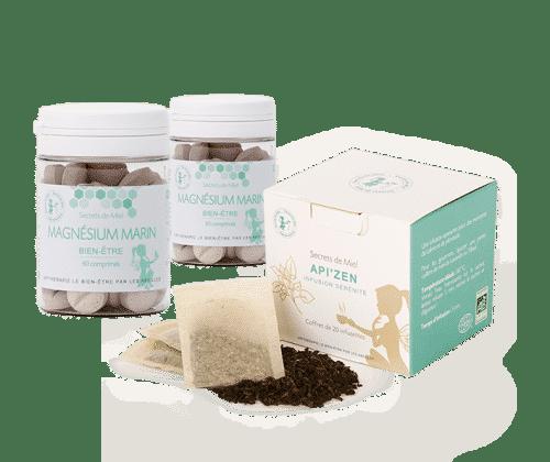 magnésium marin - zen - système nerveux - forme - infusion apaisante - offre - produits naturels - Secrets de Miel