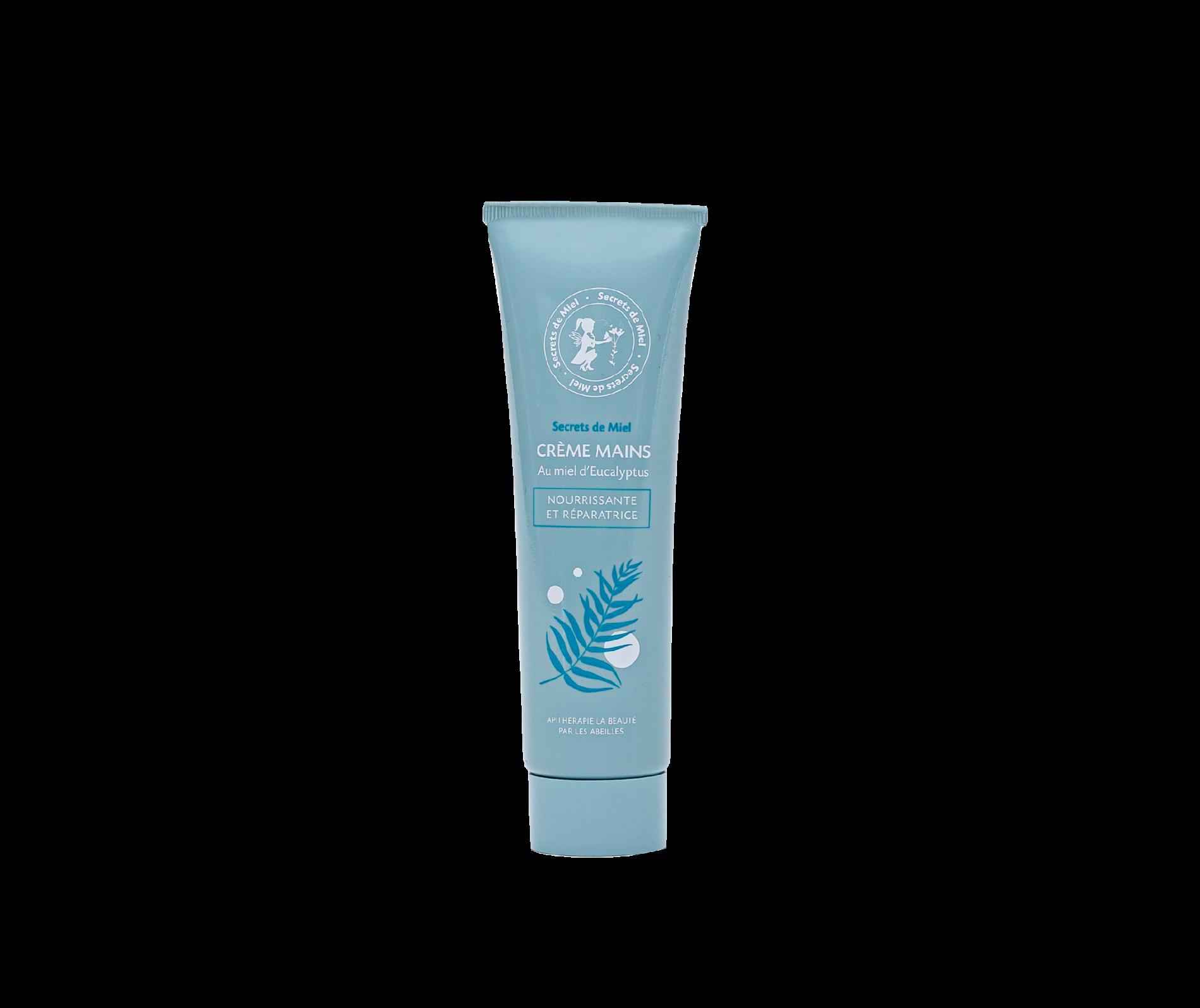 crème mains au miel d'Eucalyptus - pour hommes et femmes - mixte - miel - mains sèches et abîmées - Secrets de Miel - produits naturels - Made in France