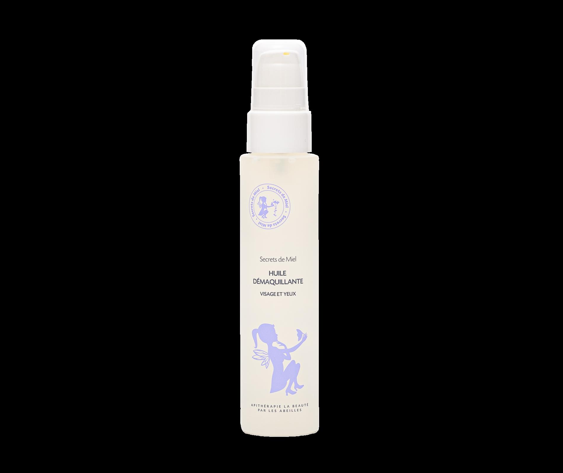 huile démaquillante visage et yeux - Secrets de Miel - produits naturels - cosmétiques naturels - made in France