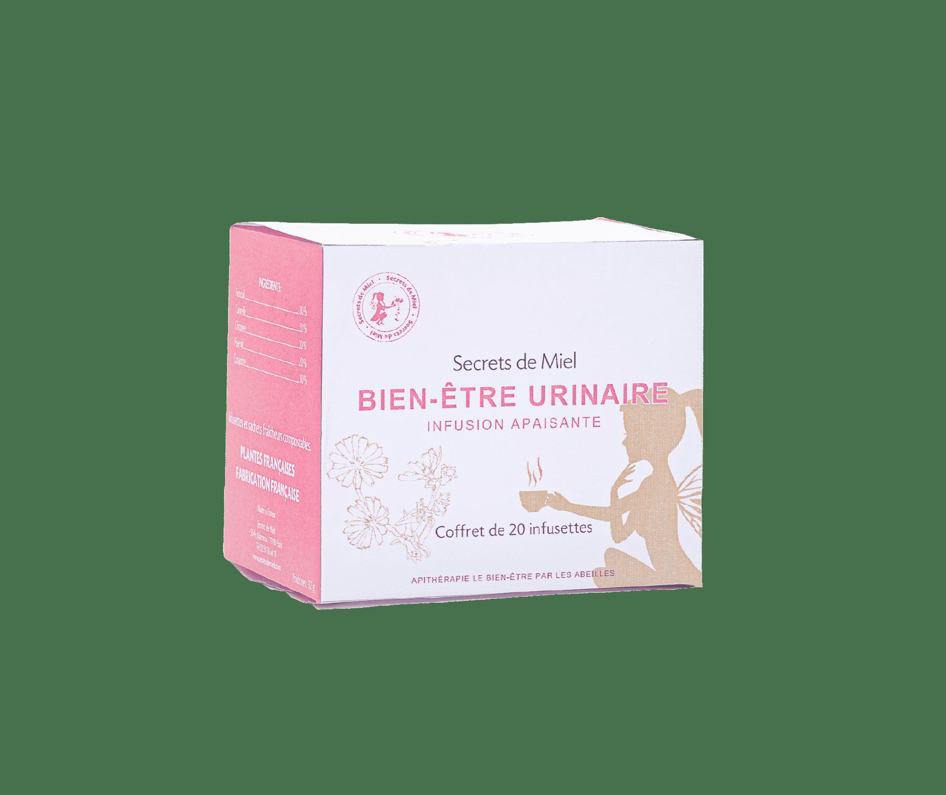 infusion bien-être urinaire - apaise - améliorer action des reins - plantes 100% françaises - biologique - Secrets de Miel - Made in France