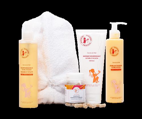 programme pour des cheveux beaux et forts - complexe cheveux - complément alimentaire cheveux - offre Printemps-Eté - Secrets de Miel - produits naturels - Made in France