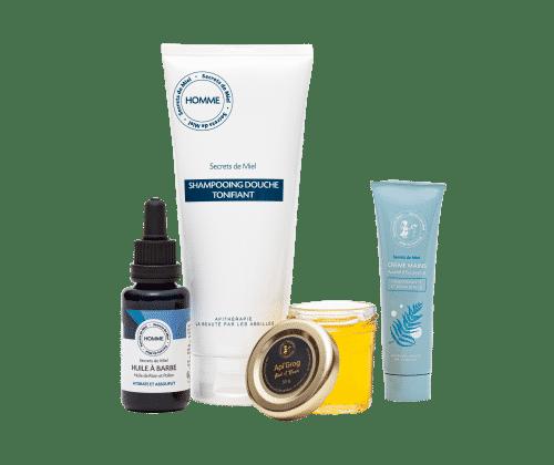 Secrets de Miel - offre de lancement - hommes - soins cosmétiques hommes