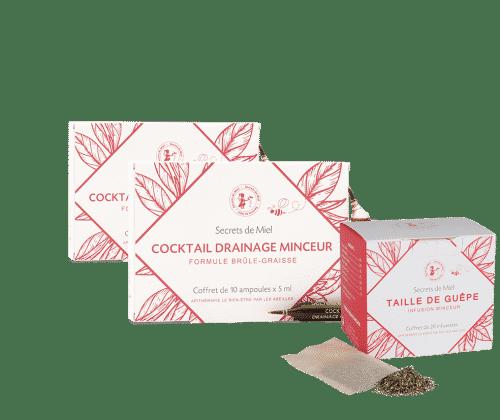 offre mars - minceur - Secrets de Miel - cocktail drainage minceur - produits naturels - made in France