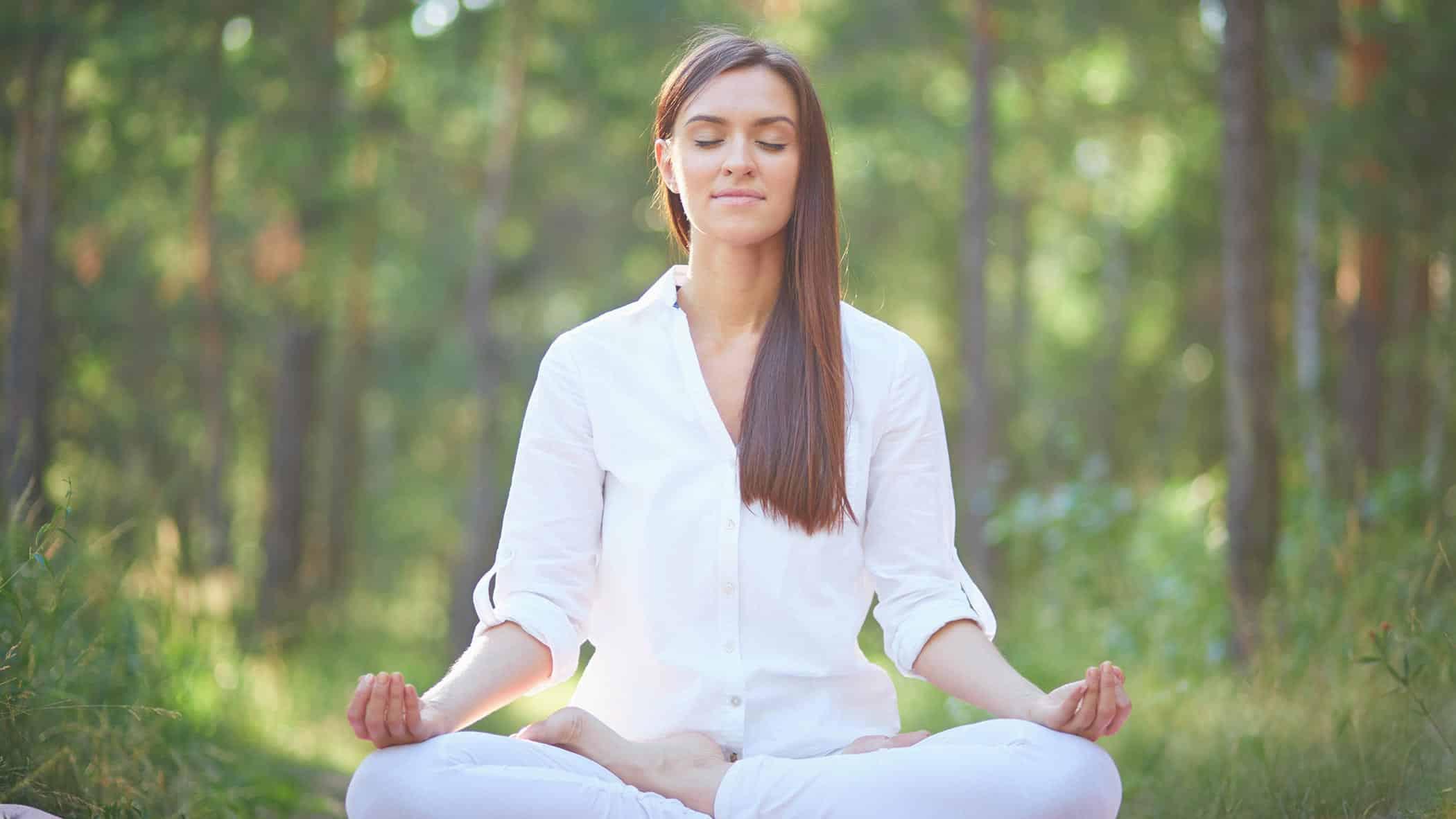 femme, méditation