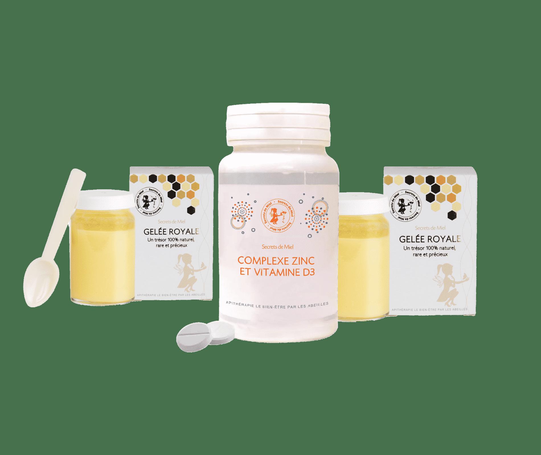 Zinc - Gelée Royale - booster ses défenses naturelles - Vitamine D3 - Secrets de Miel