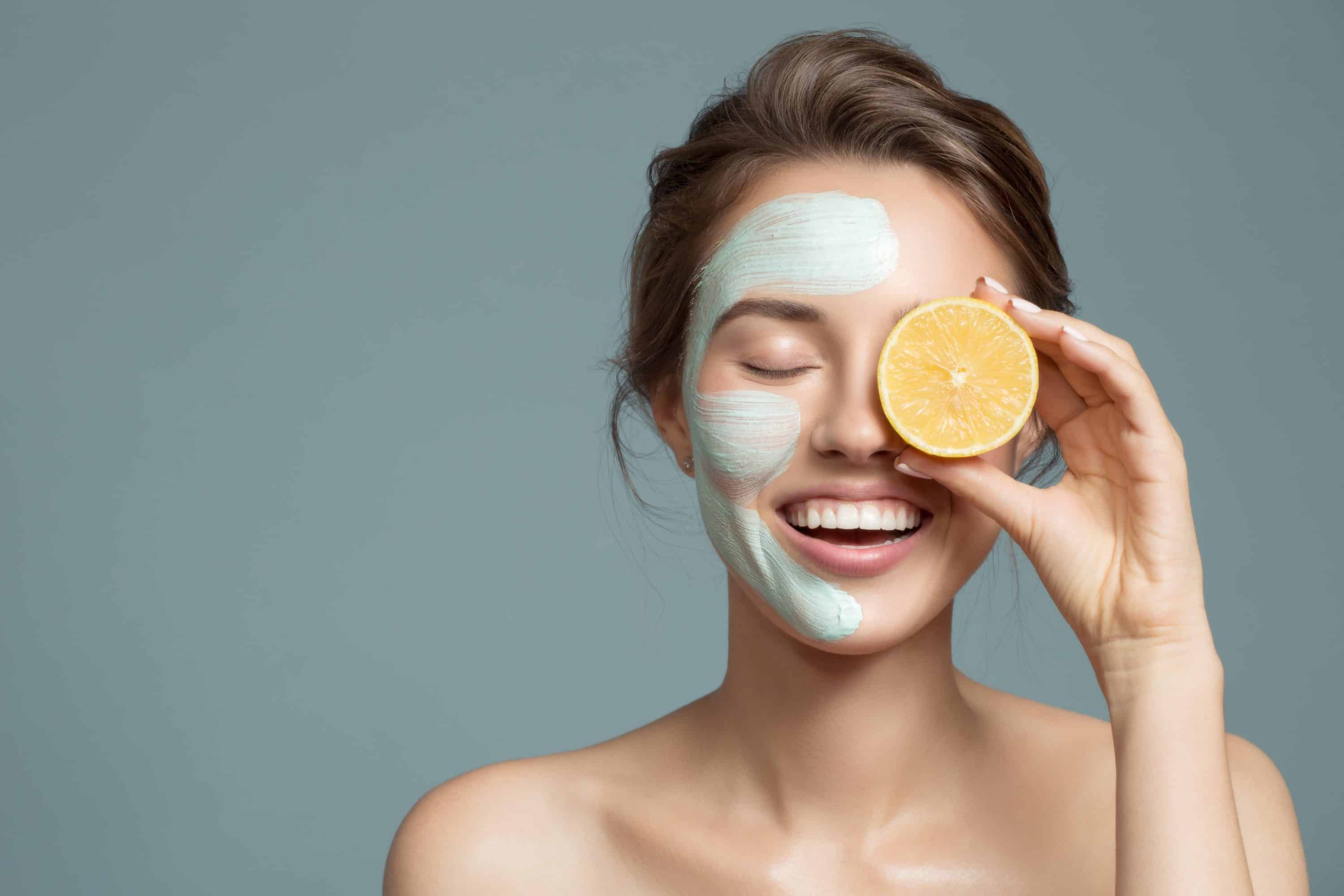 masque visage, citron