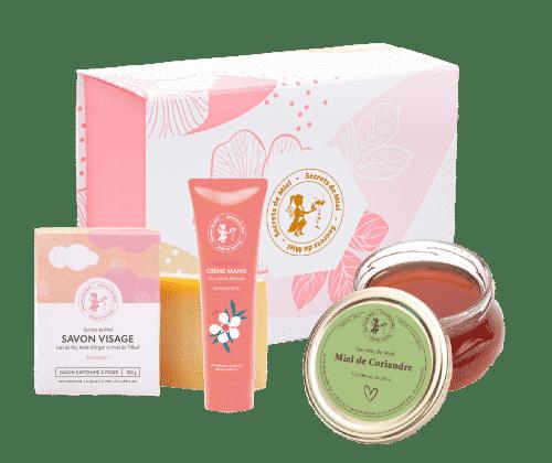 Secrets de Miel - coffret Fête des mères - miel de Coriandre - soins cosmétiques