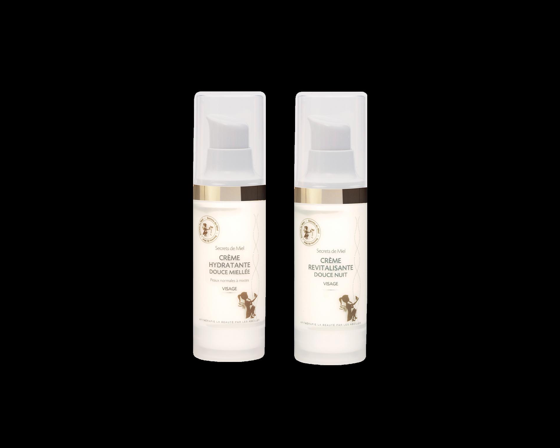 crème hydratante - crème jour - crème nuit - soins hydratants visage - peau - Secrets de Miel