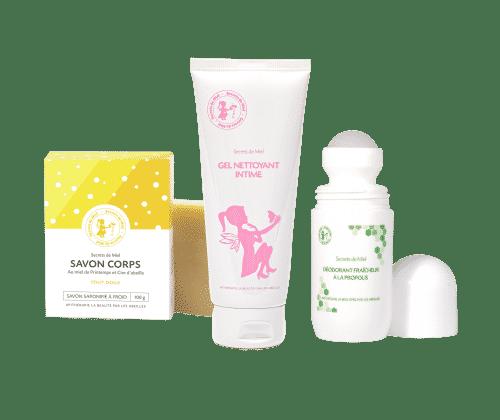 essentiels hygiène corporelle - offre - produits naturels - cosmétiques - Secrets de Miel
