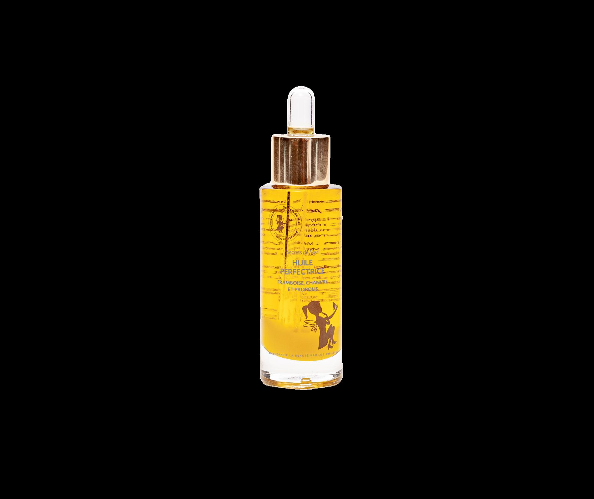huile pour le visage - peaux mixtes, grasses, à imperfections - peaux sensibles - soin de jour - soin de nuit - apithérapie - formule naturelle - 100% naturel - Made in France