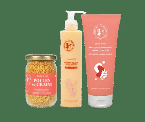 cheveux - soins cheveux - Secrets de Miel - offre - produits naturels - pollen - miel