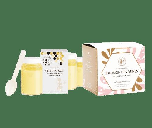 règles douloureuses - plantes - gelée royale - infusion des Reines - Secrets de Miel